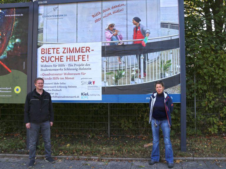 """Studentenwerk Schleswig-Holstein – """"Wohnen für Hilfe"""" wird großflächig beworben"""