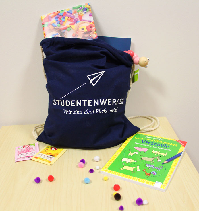 Studentenwerk SH verschenkt Kreativbeutel für Kinder